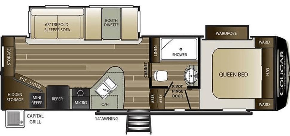 Rv Cougar Floor plan