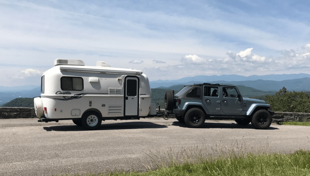Jeep Towing Camper